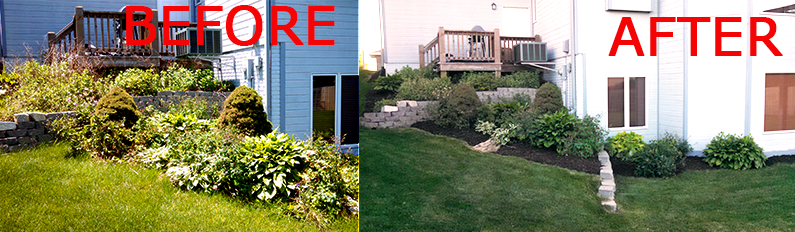 Landscape bed maintenance in Omaha