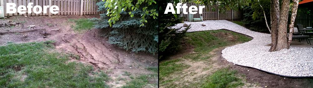 Landscape Design Before & After in Omaha