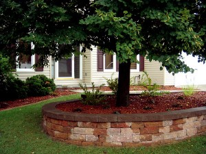 Circular Retaining Wall & Landscaping